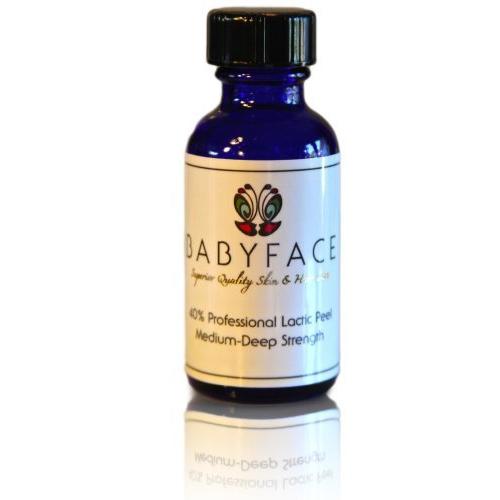 Babyface Professional 40% Lactic Acid Chemical Peel - Large Size 1.2 oz.