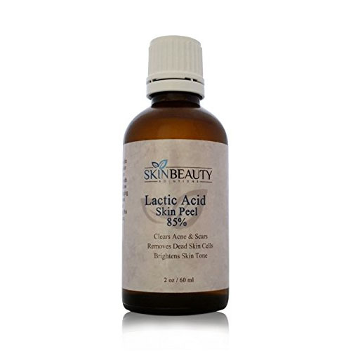 (2 oz / 60 ml) LACTIC Acid 85% Skin Chemical Peel- Alpha Hydroxy (AHA) For Acne, Skin Brightening, Wrinkles, Dry Skin, Age Spots, Uneven Skin Tone, Melasma & More (from Skin Beauty Solutions)